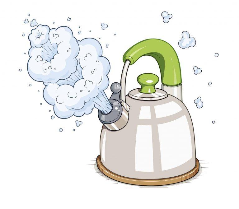 Wasserkocher gezeichnet