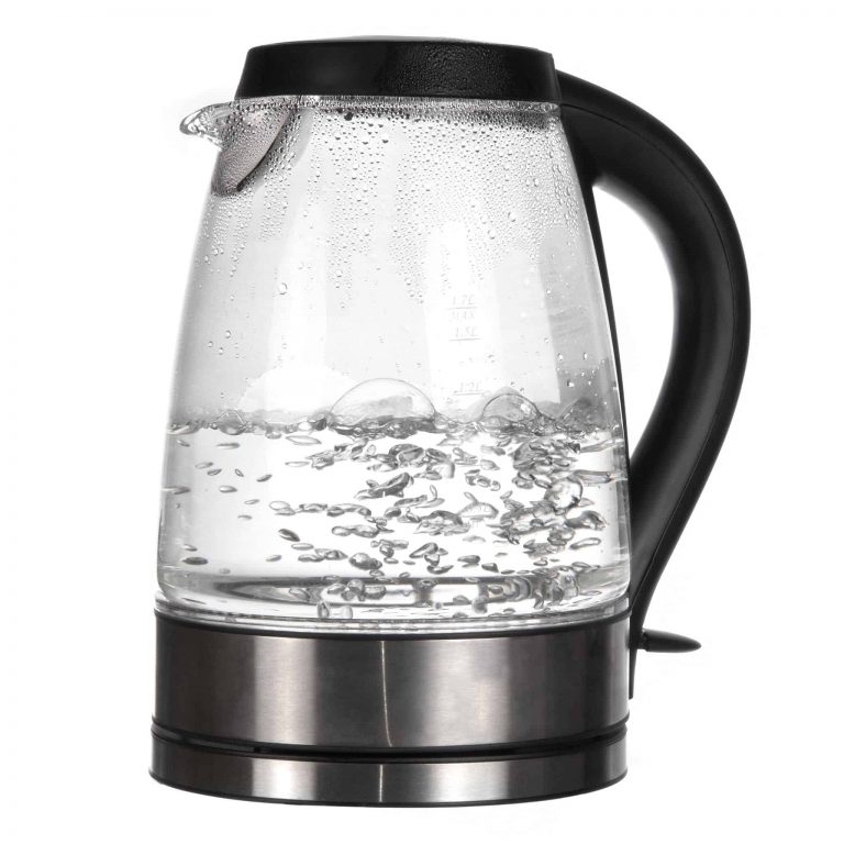 Glaswasserkocher in Betrieb