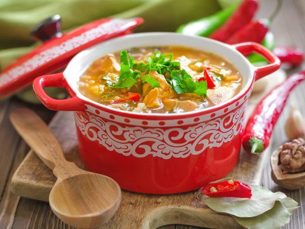 20392434 – kharcho soup  georgian cuisine