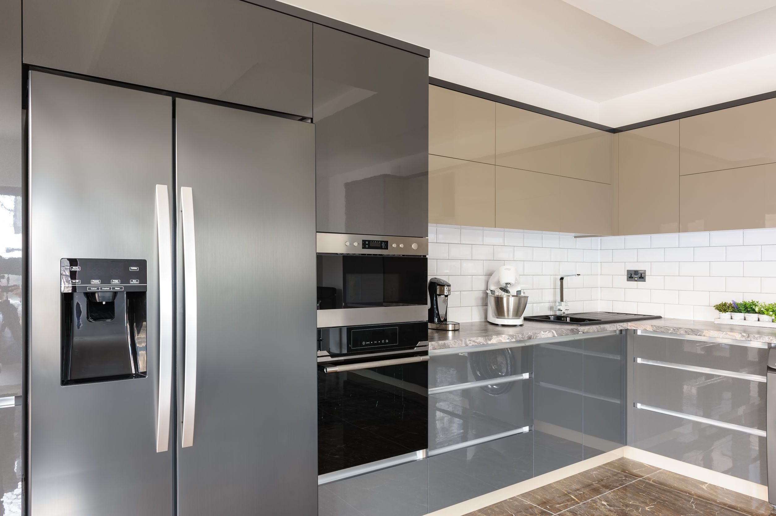 Side by Side Kühlschrank ohne Wasseranschluss