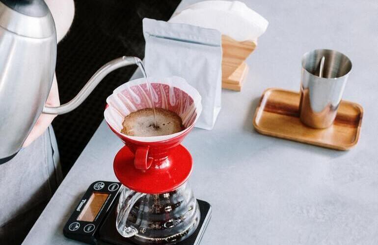 Kaffeefilter Porzellan im Einsatz