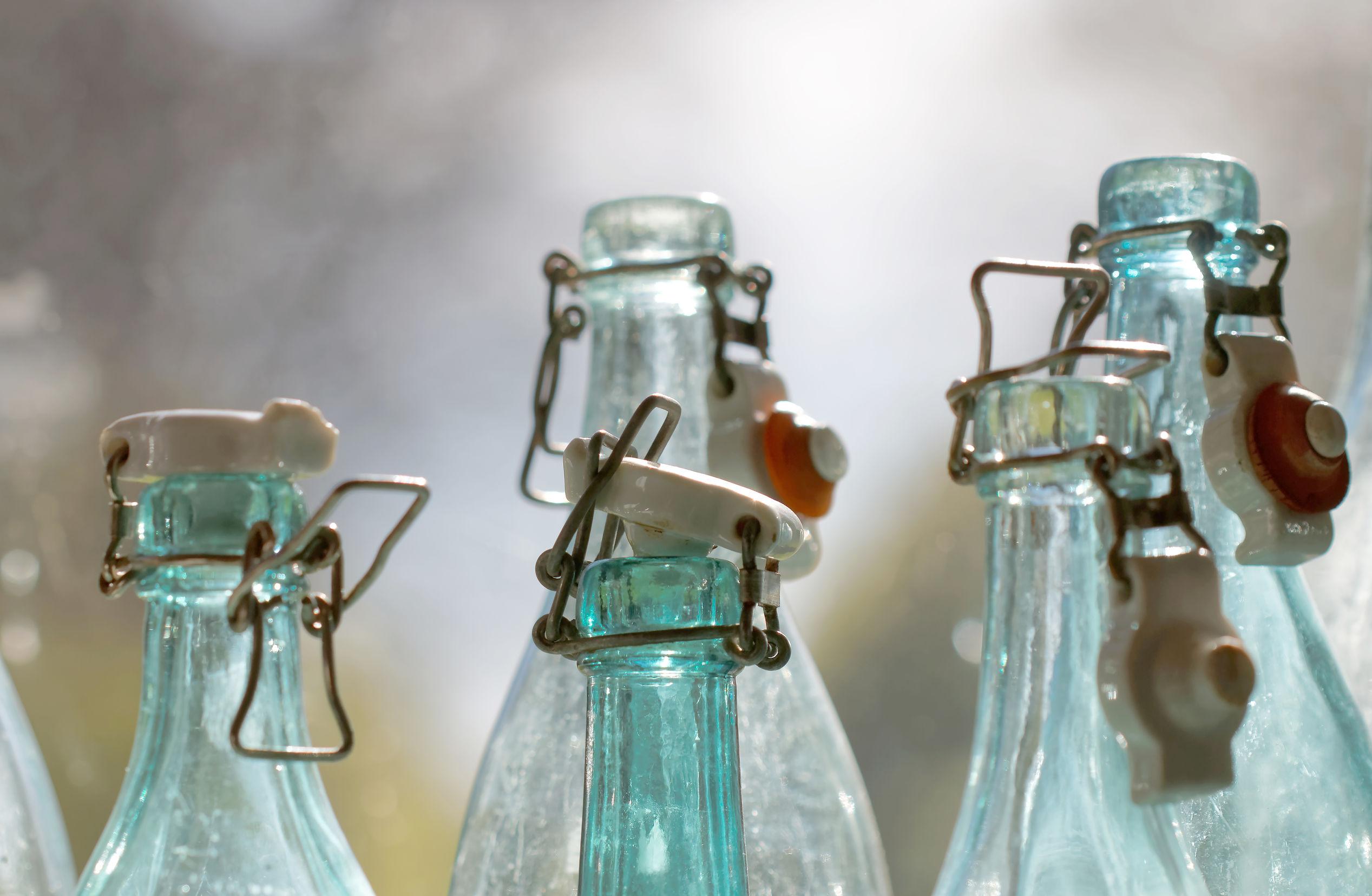 Glas Trinkflasche