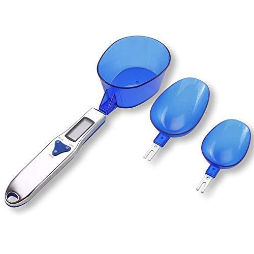 Fuumiy Digitale Löffelwaage-küchenwaage LCD-Anzeige digitalwaage , Professionell küchenzubehör mit 3 Abnehmbare skala Loffel, Electronische Waage für-Flüssigkeit Würze-Pulver-Baby milchpulver.(Blau)