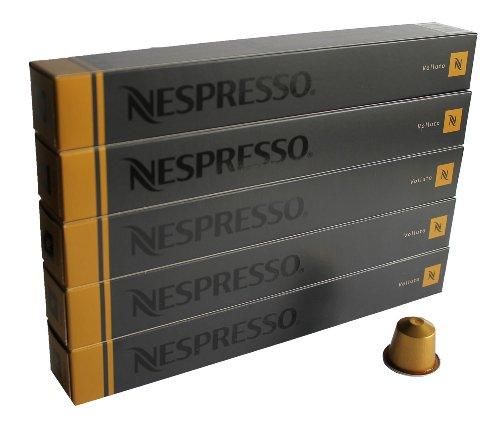 Nespresso Kapseln gold 50 Kaffeekapseln 5 x 10 Kapseln Volluto Espresso