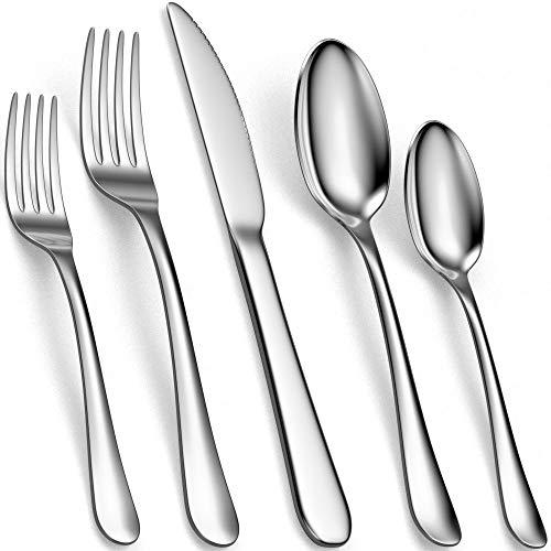 Tribal Cooking Edelstahl Besteckset 30-teilig – Elegantes Cutlery Set für 6 Personen - Küchenzubehör, Essbesteckset, poliert, rostfrei, spülmaschinenfest